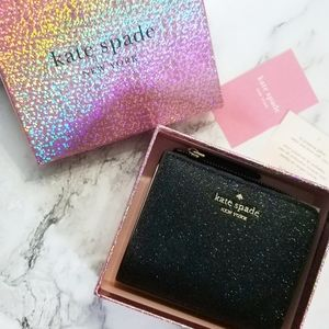 🍒NWT🍒 KATE SPADE BOXED GLITTER BIFOLD WALLET